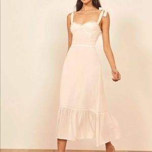 Reformation Nikita Midi Dress Ivory